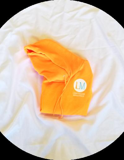 Fleece hoodie: $20